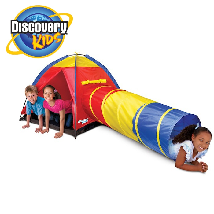 Discovery Kids Adventure 2-piece Portable Backyard Play Tent with Tube
