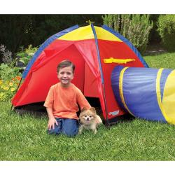 Discovery Kids Adventure 2-piece Portable Backyard Play Tent with Tube - Thumbnail 1
