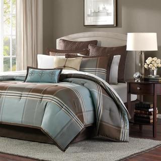 Link to Copper Grove Geneva Blue/Brown 8-piece Comforter Set Similar Items in Comforter Sets