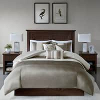 Madison Park Natural Eastridge 6-piece Duvet Cover Set