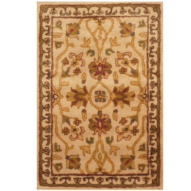Herat Oriental Indo Floral Wool Rug  - 2' x 3'