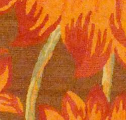 Indo Hand-tufted Brown/Red Floral Wool Rug (2'6 x 4') - Thumbnail 1