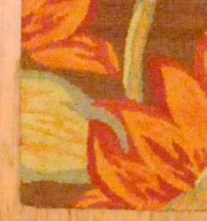 Indo Hand-tufted Brown/Red Floral Wool Rug (2'6 x 4') - Thumbnail 2
