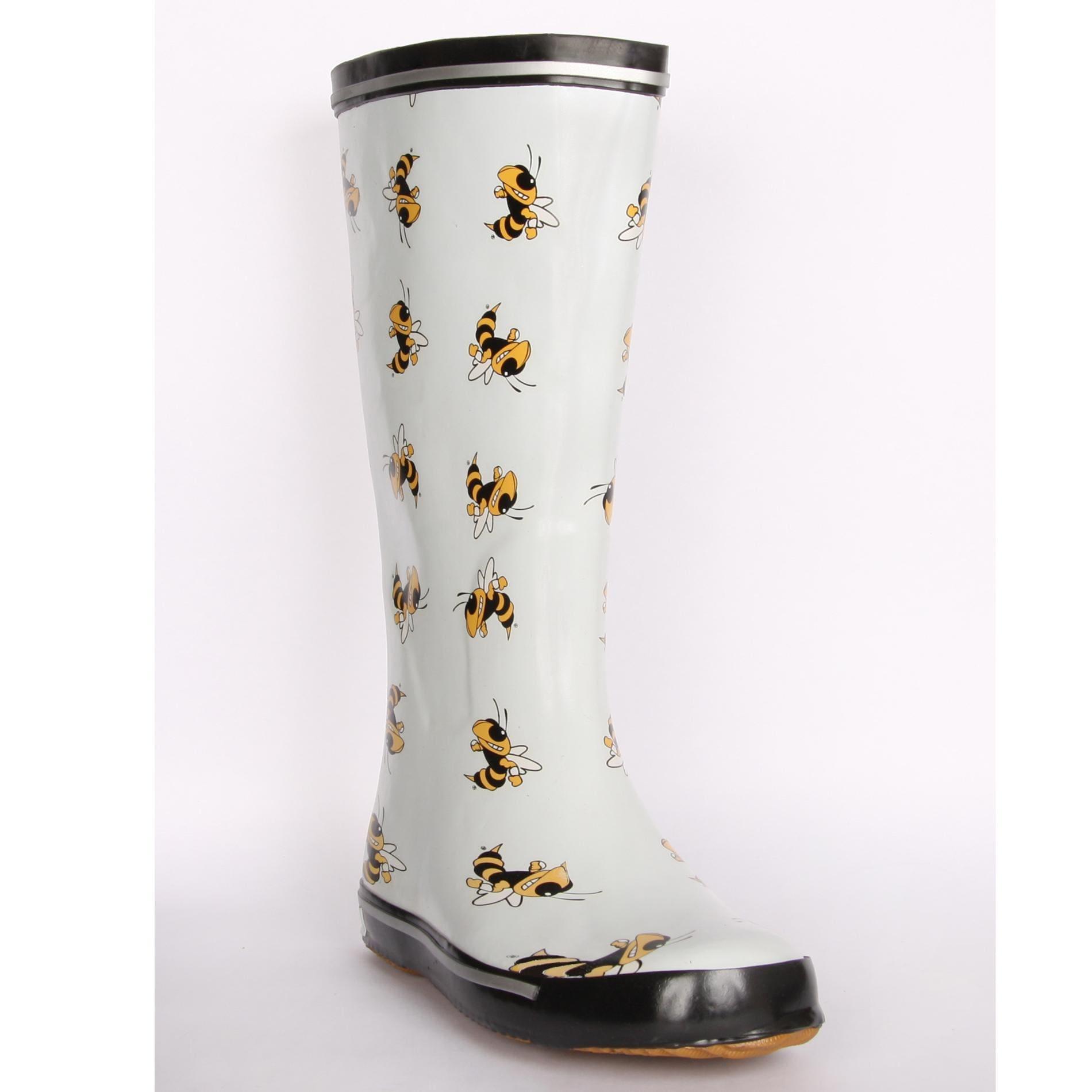 Georgia Tech Yellow Jacket Women's Scattered Logo Rain Boots