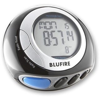 BluFire Digital Pedometer with FM Radio, Headphones, Calorie Counter and 3D Motion Technology