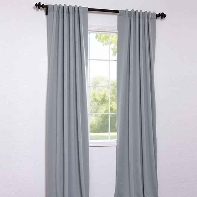 Exclusive Fabrics Purit Blue 108-inch Blackout Curtain Panel Pair