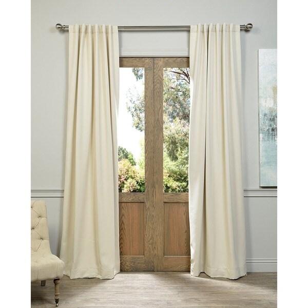 Exclusive Fabrics Eggnog Blackout Curtain Panel Pair