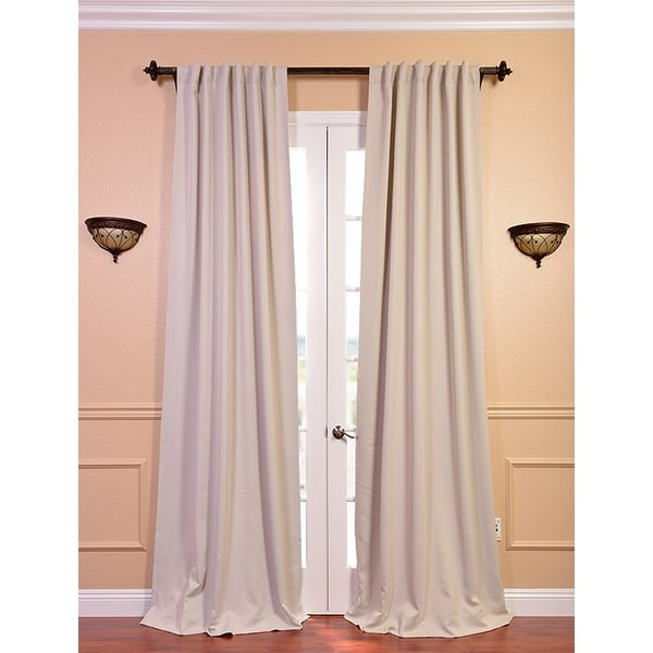 Exclusive Fabrics Eggnog 96-inch Blackout Curtain Panel Pair
