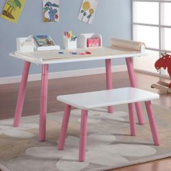 Wondrous 3 Stages Kids Art Table And Bench Set In White And Pink Finish Overstock Com Shopping The Best Deals On Kids Table Chair Sets Creativecarmelina Interior Chair Design Creativecarmelinacom