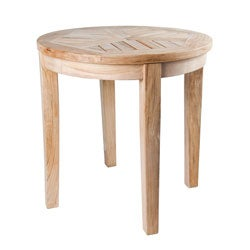 Solid Teak Natural Round Side Table