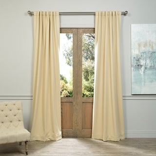 Exclusive Fabrics Biscotti Beige Blackout Curtain Panel Pair