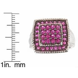 D'Yach Sterling Silver 1 4/5ct TGW Heated Ruby Fashion Ring - Thumbnail 2