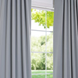 Exclusive Fabrics Purit Blue Blackout 120-inch Curtain Panel Pair