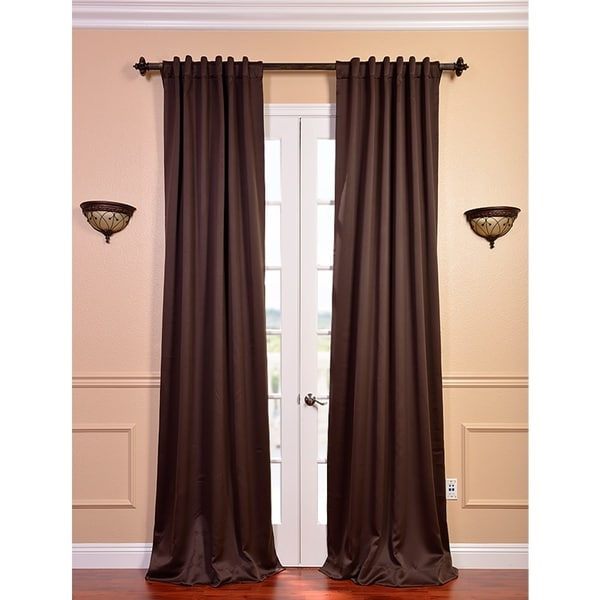 Exclusive Fabrics Java Blackout 108-inch Curtain Panel Pair