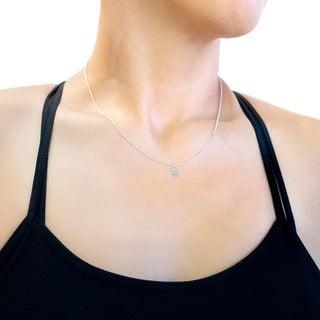 Annello by Kobelli 14k Gold 1/10ct TDW Diamond Accent Mini Hamsa Necklace