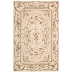 Shop Nourison Hand Tufted French Empire Ivory Wool Rug 3
