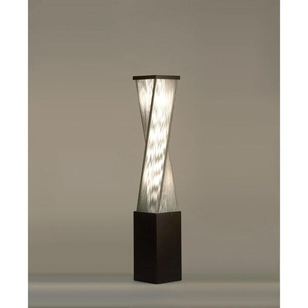 58 Inch High Modern Torque Brown/ Silver Floor Lamp