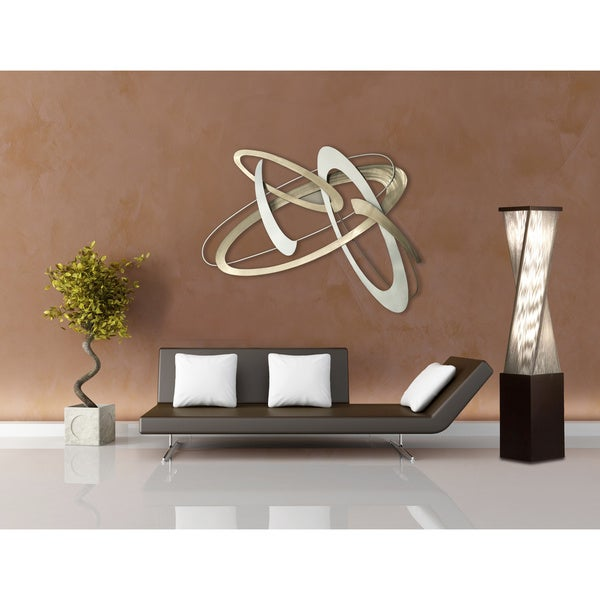 Torque, Accent Floor Lamp-Dark Brushed Wood, Silver String - Free ...