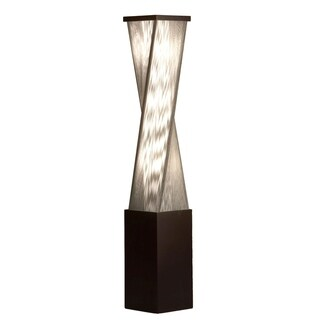 Torque, Accent Floor Lamp-Dark Brushed Wood, Silver String