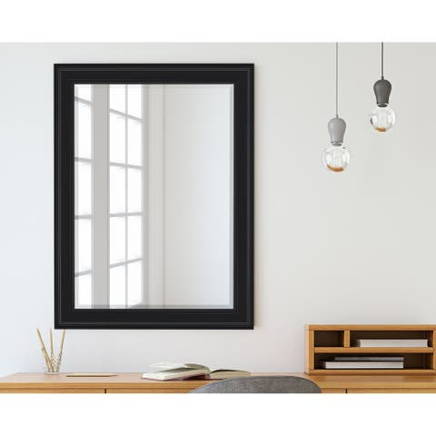 Hitchcock Butterfield Fieldhurst Large Black Traditional Mirror