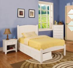 Furniture of America Thea Platform Twin Size Bed and Three Drawers
