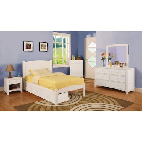 Furniture of America Thea Platform 4-piece Full Size Bed Set and Drawers