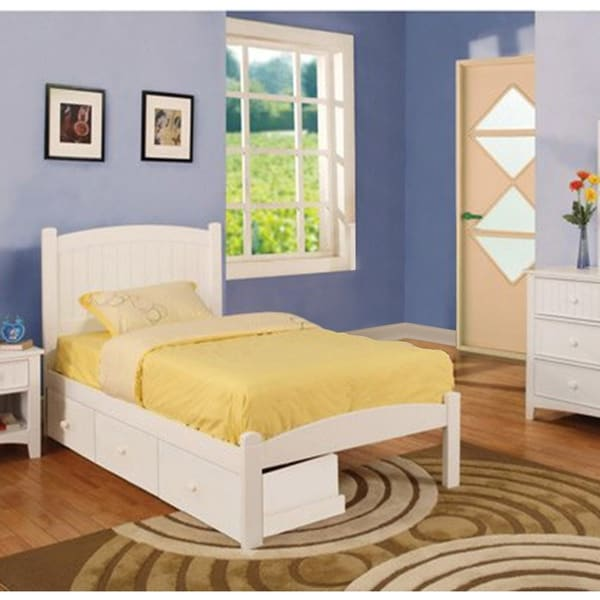 Shop Thea Casual Full White 2 Piece Platform Bed Set By Foa Free