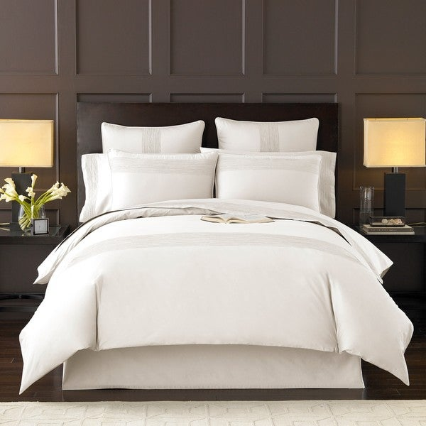 Luxury White Queen-size 3-piece Duvet Cover Set