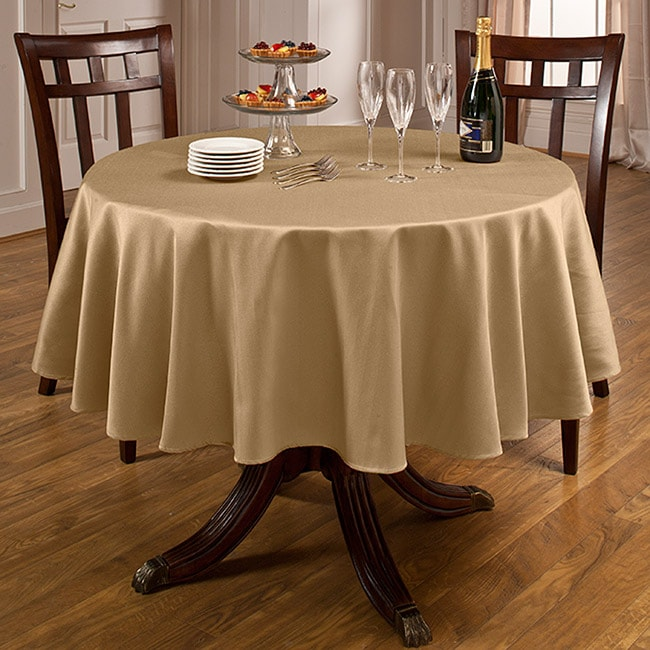 Rosedale Spill proof 70 inch Round Tablecloth Free