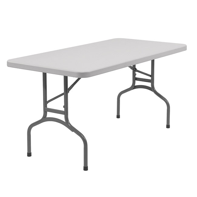 Blow Molded 30x60-in Lightweight Folding Tables (Pack of 10)