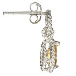 La Preciosa Sterling Silver Citrine Teardrop Earrings - Thumbnail 1