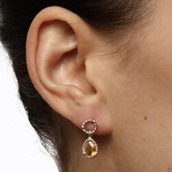 La Preciosa Sterling Silver Citrine Teardrop Earrings - Thumbnail 2