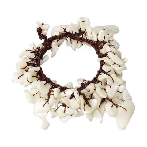 Handmade Beach Boho Sea Shell Handmade Dangle Bracelet (Thailand)