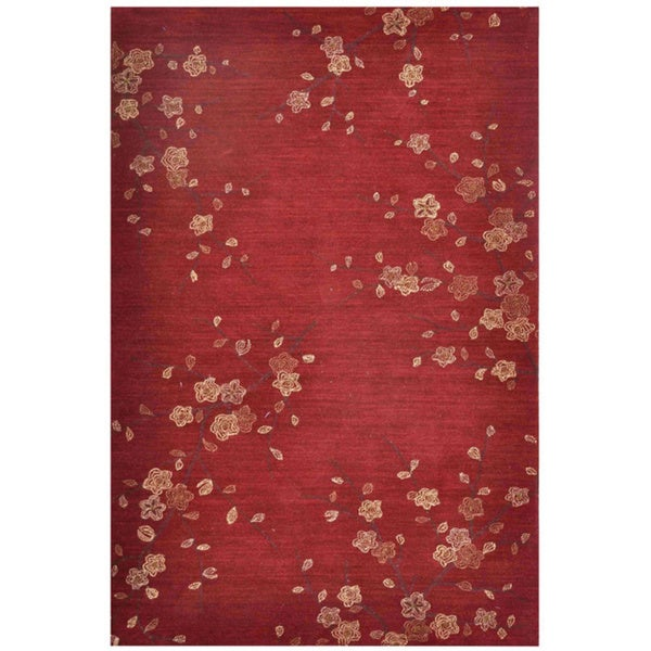 Hand Tufted Red Ivory Holiday Rug 4 X 6 Free