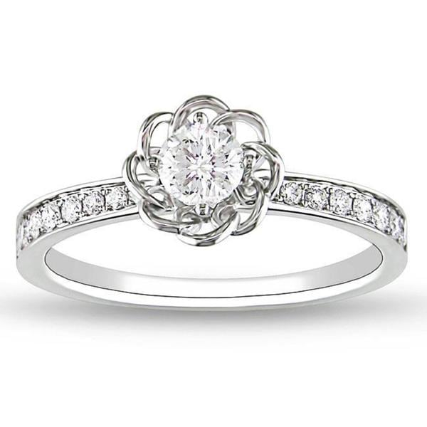Miadora Signature Collection 14k White Gold 1/4ct TDW Diamond Ring