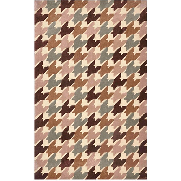 Hand-tufted Multi Polyester Rug (7'6 x 9'6)