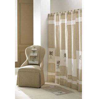 Croscill Tropical Pattern 70x72 Inch Fiji Shower Curtain