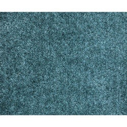 Hand-woven Blue Shag Polyester Rug (5' x 7'6) - Thumbnail 1