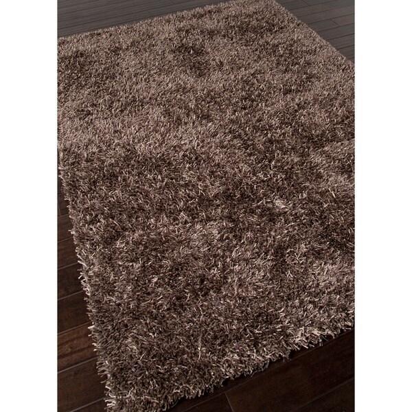 Hand-woven Brown Polyester Shag Rug (7' 6 x 9' 6)