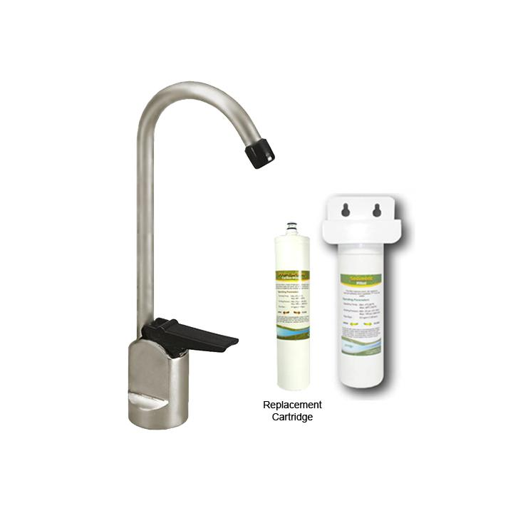 Westbrass Satin Nickel Touch Flo Cold Water Dispenser Faucet With Under Count