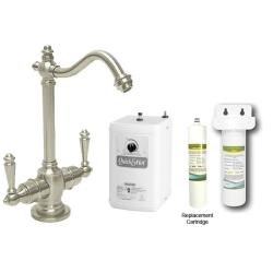 Westbrass Satin Nickel Victorian Hot Cold Water Dispenser Faucet With Under Counter Filter Kit Overstock 5960910