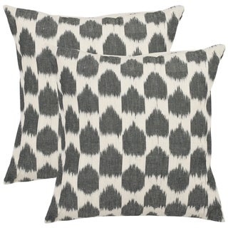Safavieh Moments 22-inch Charcoal Grey Decorative Pillows (Set of 2)