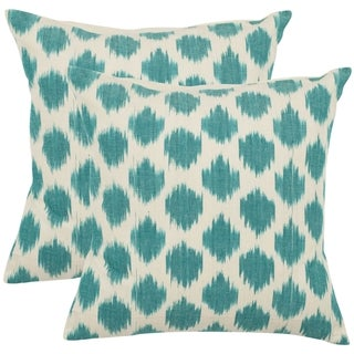 Safavieh Oceans 18-inch Aqua Blue Decorative Pillows (Set of 2)