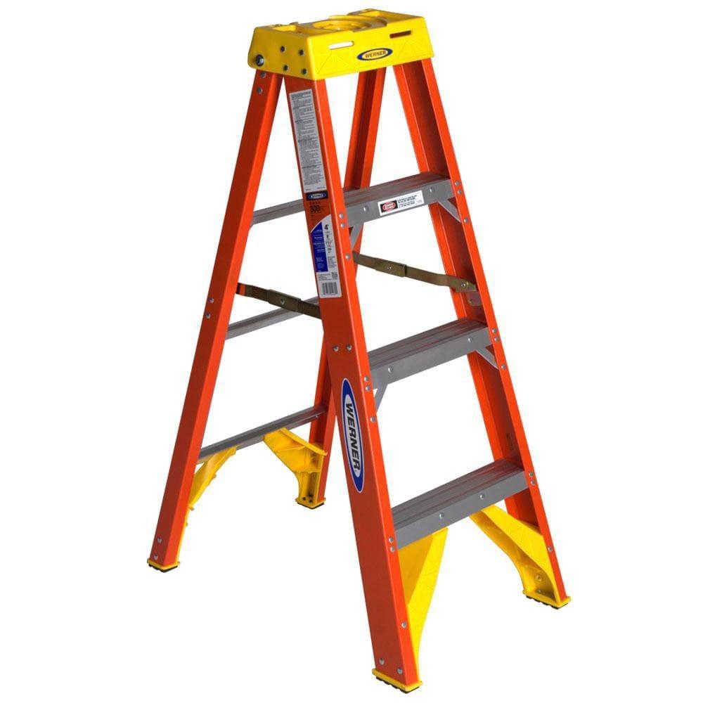 Werner Ladder 4-foot Step Ladder Yellow