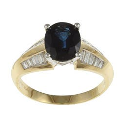 Kabella 14k Two-tone Gold Sapphire and 1/2ct TDW Diamond Ring (G-H, SI1-SI2) https://ak1.ostkcdn.com/images/products/5961365/Kabella-14k-Two-tone-Gold-Sapphire-and-1-2ct-TDW-Diamond-Ring-G-H-SI1-SI2-P13656927.jpg?impolicy=medium