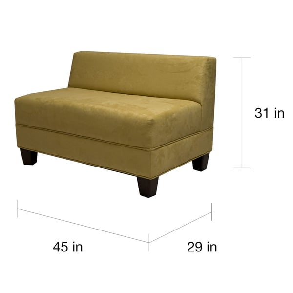 makenzie armless loveseat free shipping today