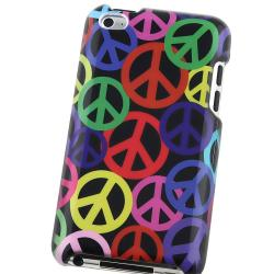 Black Rainbow Peace Sign Case for Apple iPod touch 4th Gen - Thumbnail 2