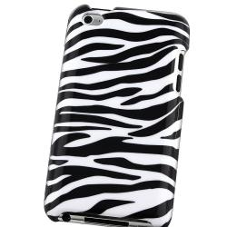 INSTEN White/ Black Zebra iPod Case Cover for Apple iPod touch 4th Gen - Thumbnail 2