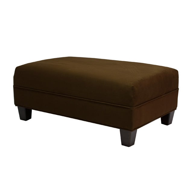 Makenzie Chocolate Cocktail Ottoman