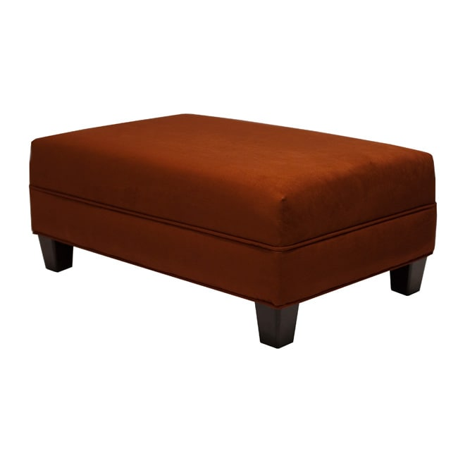 Makenzie Crimson Cocktail Ottoman